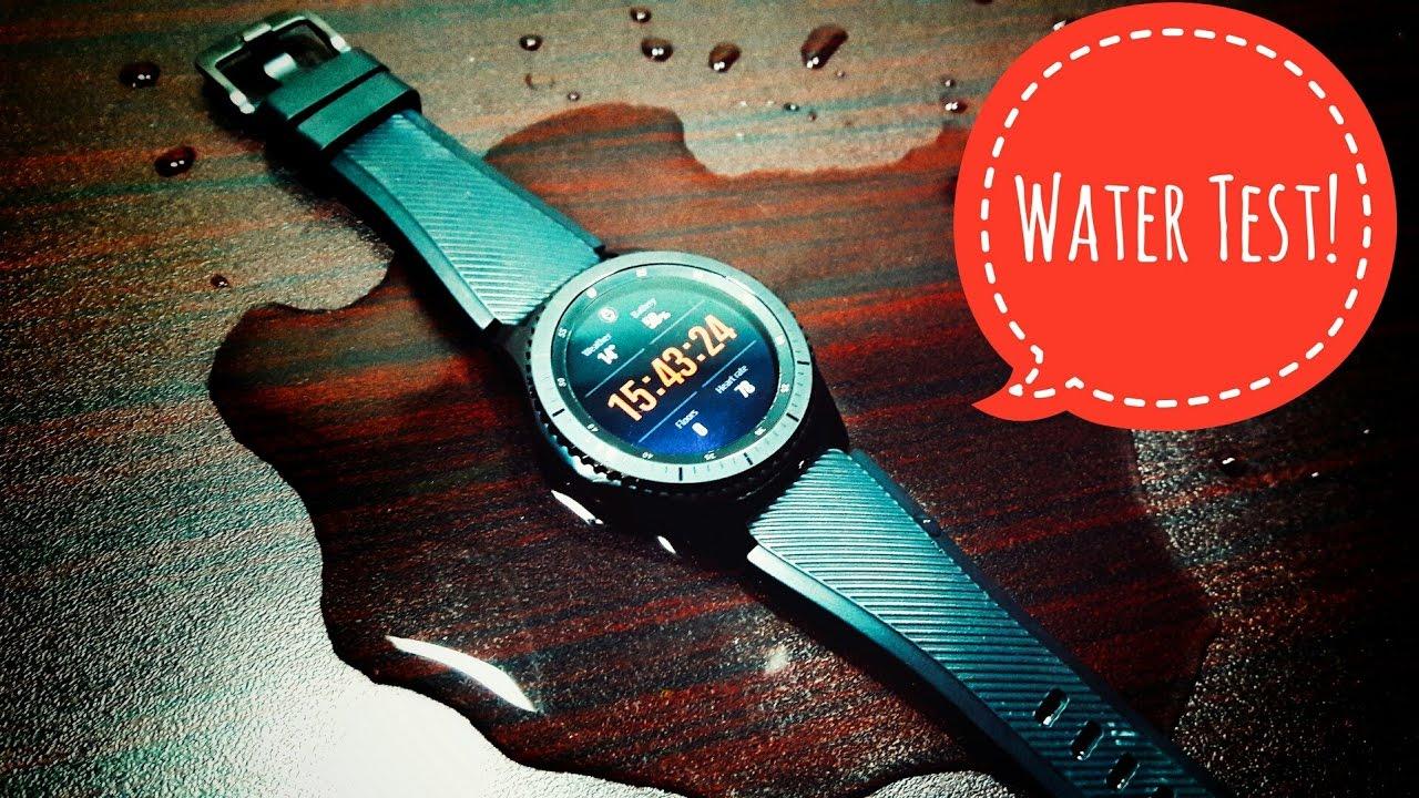 Samsung Gear S3 Frontier Water/Tap Water Test!
