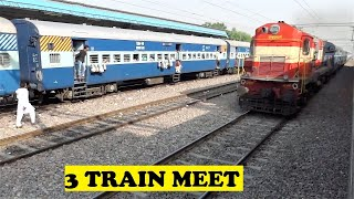 WDM2 Ambala Delhi Overtakes WDM3A Jan Shatabdi