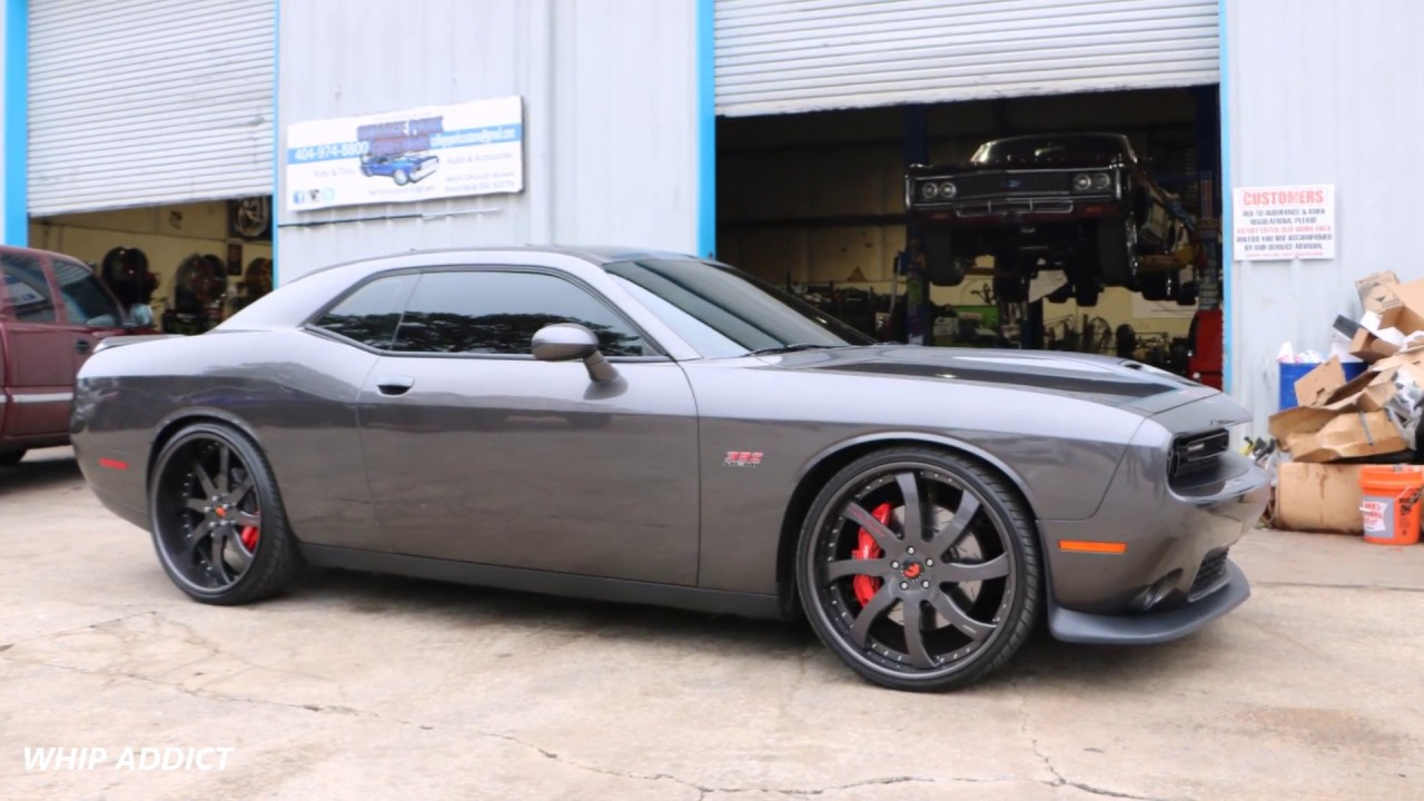 whipaddict dodge challenger srt 392 on forgiato quattresimo 24s by @collegeparkcustoms Dodge Challenger On 28