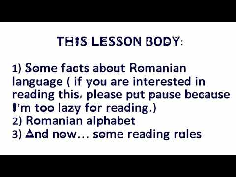 "Romanian language : LESSON 1 : The alphabet and "" the composite sounds"""