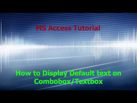 How To Create A Default Text On Combobox Or Textbox