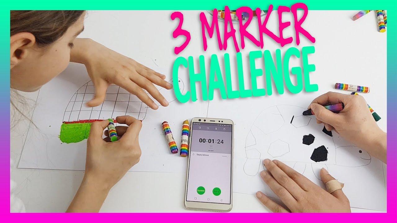 3 Marker Challenge Boyama Oyunu Youtube