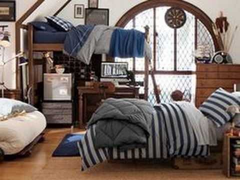 Inspiring dorm room ideas for guys youtube - Dorm room bedding ideas ...