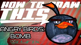 Angry Birds Drawing: How to Draw the Bomb Bird