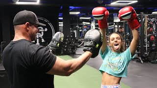 working out with my dad | Sommer Ray vlog