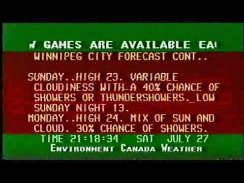 Environment Canada Weather Channel - Winnipeg 1996-07-27