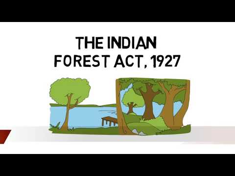 The Indian Forest Act, 1927 in hindi Sections 1 to 50 : Part 1