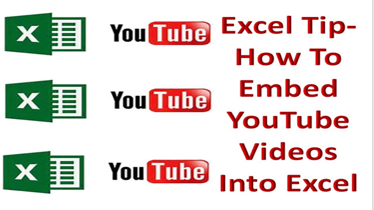 Excel Tip - How To Embed YouTube Videos Into Excel  - How To Excel