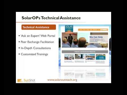 Solar Technical Assistance Overview and Applications