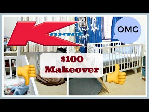 $100 KMART BABY BOY ROOM MAKEOVER + HAUL | BUDGET KIDS ROOM TRANSFORMATION