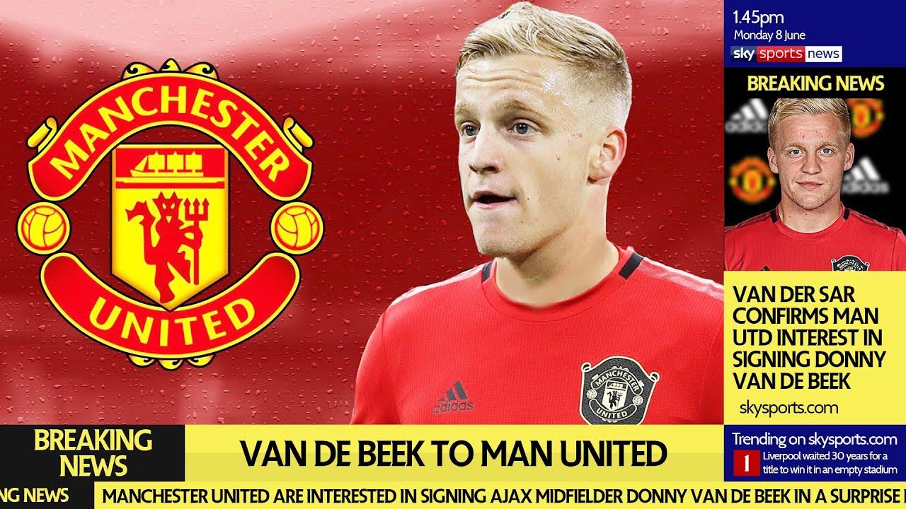 Van De Beek To Man Utd Transfer Update Youtube