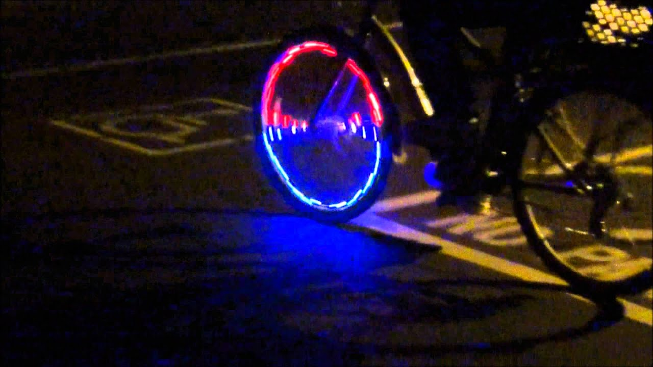cheap led lights on front bicycle wheel