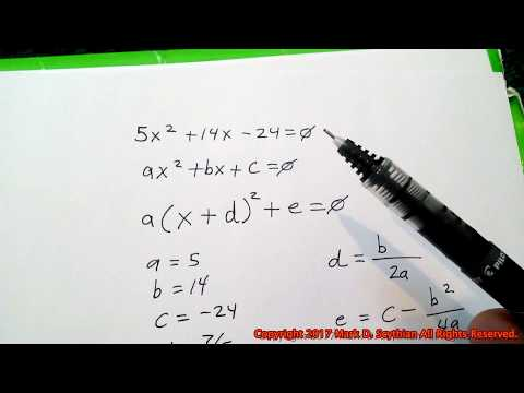How To Convert Quadratic Equations From Standard Form To Vertex Form