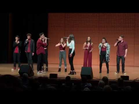Legacy A Cappella performance at international high school finals at Lincoln Center