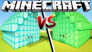 DIAMOND HOUSE VS EMERALD HOUSE - Minecraft