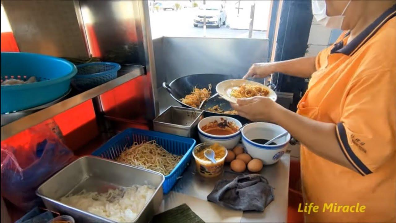 檳城行動管制令早餐美味鴨蛋炒粿條荷包蛋 Malaysia Penang food delicious duck egg fried koay teow with fried egg - YouTube