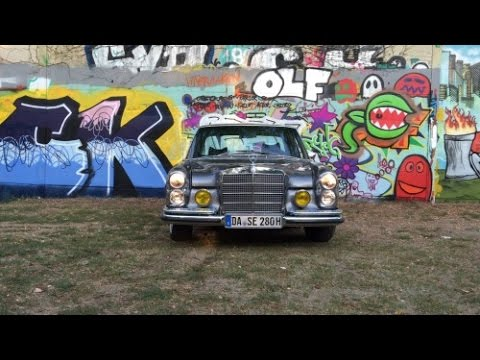 mercedes benz meets graffiti lincoln wall darmstadt germany w108 stance youtube. Black Bedroom Furniture Sets. Home Design Ideas