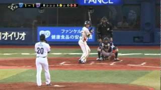 YB-S 2011年05月13日 川端:レフトへポテンヒットを放つ 1塁 全編の視聴...