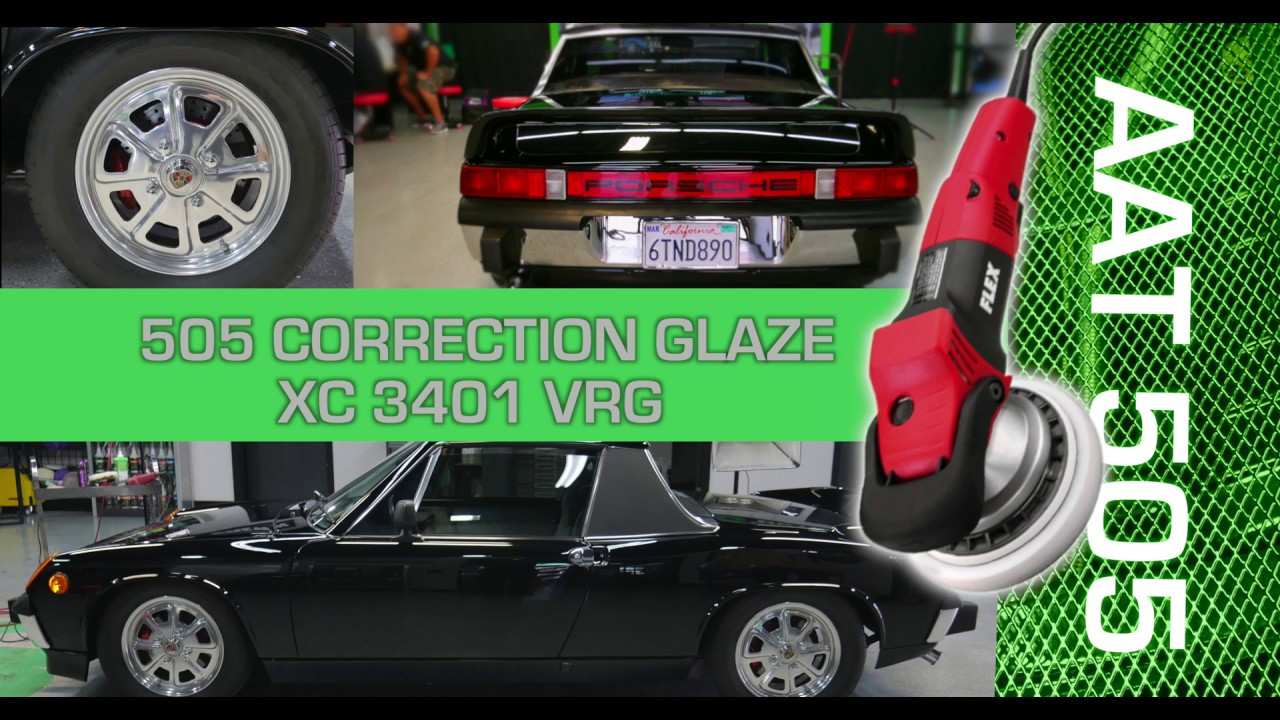 forced rotation flex polisher on black car 914 porsche 3d products