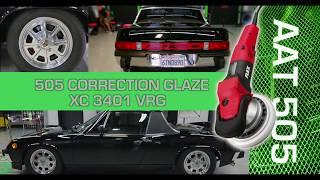 Forced Rotation Flex Polisher on black car 914 Porsche 3D products car wash