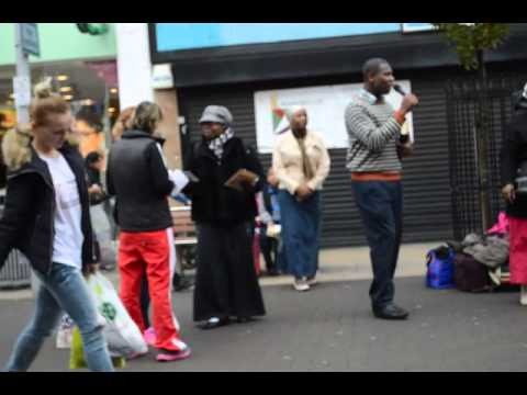 Holiness Revival Movement East London - Street Evangelism in Ilford