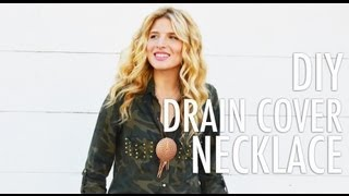 Diy Necklace Made From Drain Cover For Foam Magazine With Mr. Kate