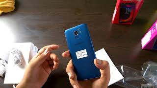 samsung j6 blue 32gb unboxing & first look in hindi,