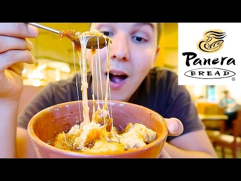 Cheesy Avocado Melt & French Onion Soup • Panera Bread • MUKBANG