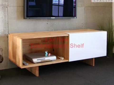 Modern Workspace Wall Mounted Desk Entertainment Shelf