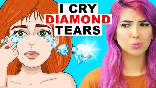 This Girl Cries REAL DIAMONDS! (TRUE Story Animation Reaction)