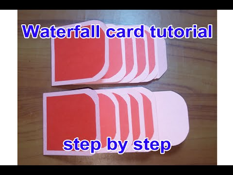 waterfall card tutorial step by step - YouTube