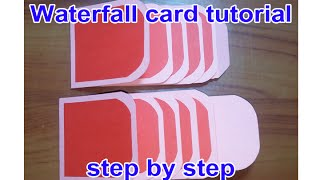 waterfall card tutorial step by step