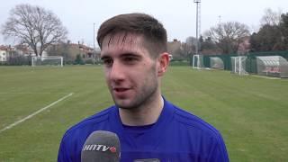 Trening Dinama i izjave igrača Dinama Luke Ivanušeca i Lovre Majera