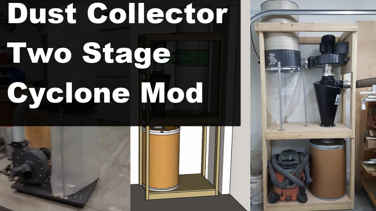Harbor Freight Dust Collector 2 Stage Cyclone Modification