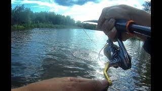 Не клевало И ТУТ ВВАЛИЛАСЬ СЕРЬЕЗНАЯ ТОРПЕДА!!!Крупная щука!Рыбалка 2019,малая река.trofi fishing