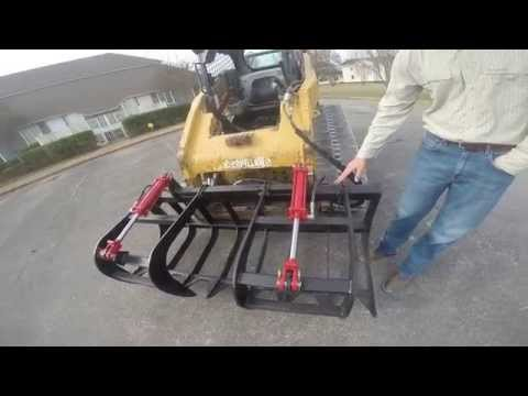 Skid Steer Attachment Depot - Dual Cylinder Root Grapple