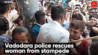 Vadodara Police Rescues Woman From Stampede