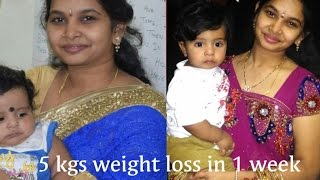 5 kgs weight loss in 1 week | 7days weight loss program | No exercises No diet Weight Loss program