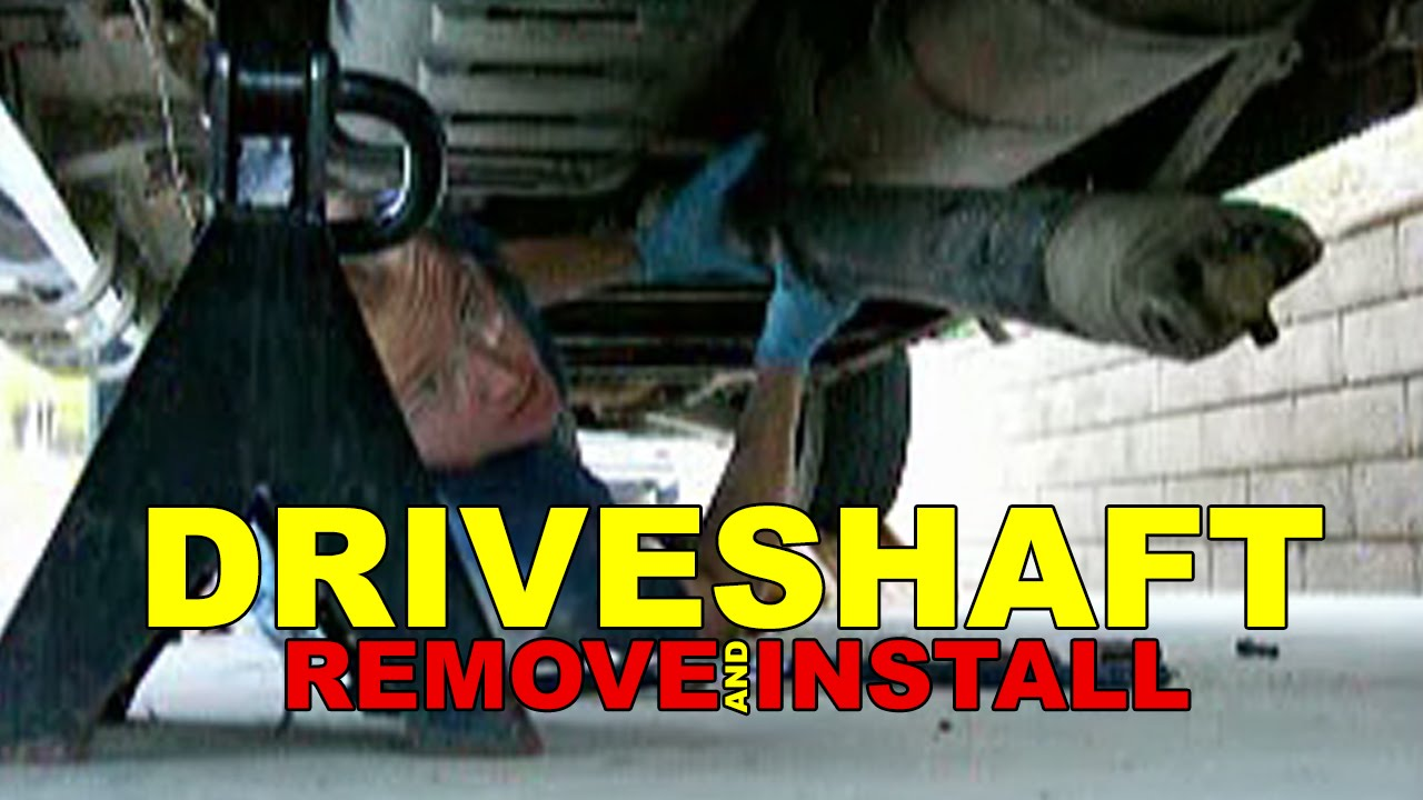 Driveshaft REMOVE and INSTALL how to - YouTube