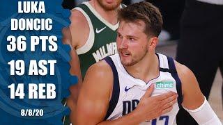 Luka Doncic erupts for triple-double vs. Bucks   2019-20 NBA Highlights