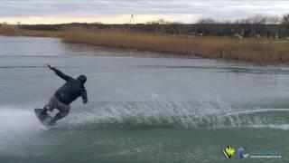 Wake boarding practice shot with DJI Inspire 2 X5S Olympus 17mm