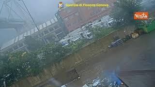 Ponte Morandi, il video inedito del crollo