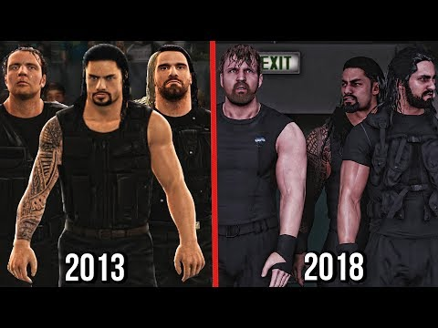 The Evolution Of The Shield In WWE Games! ( WWE 2K14 To WWE 2K19 )