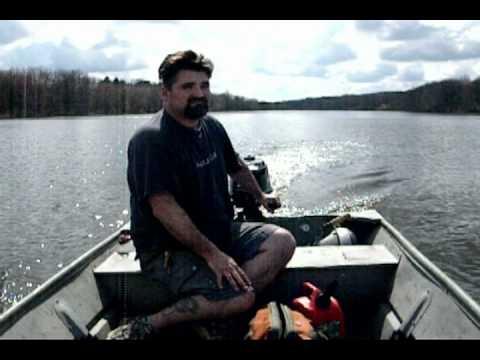 4 hp Mercury outboard running on a 12 Foot John boat