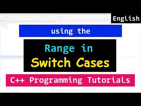 Using Range In The Case Values Of Switch Statement | C++ Programming Video Tutorial