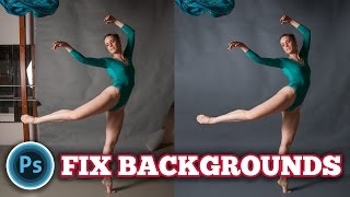 Fix backgrounds in Photoshop