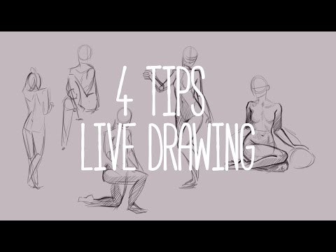 [ 4 tips ] Live Drawing for beginners