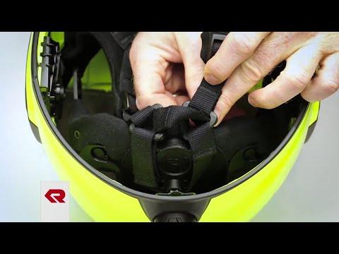 Rosenbauer HEROS-titan – Setting the chin strap width