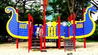 Rare Natural Playground With Sand In Singapore Of Asia