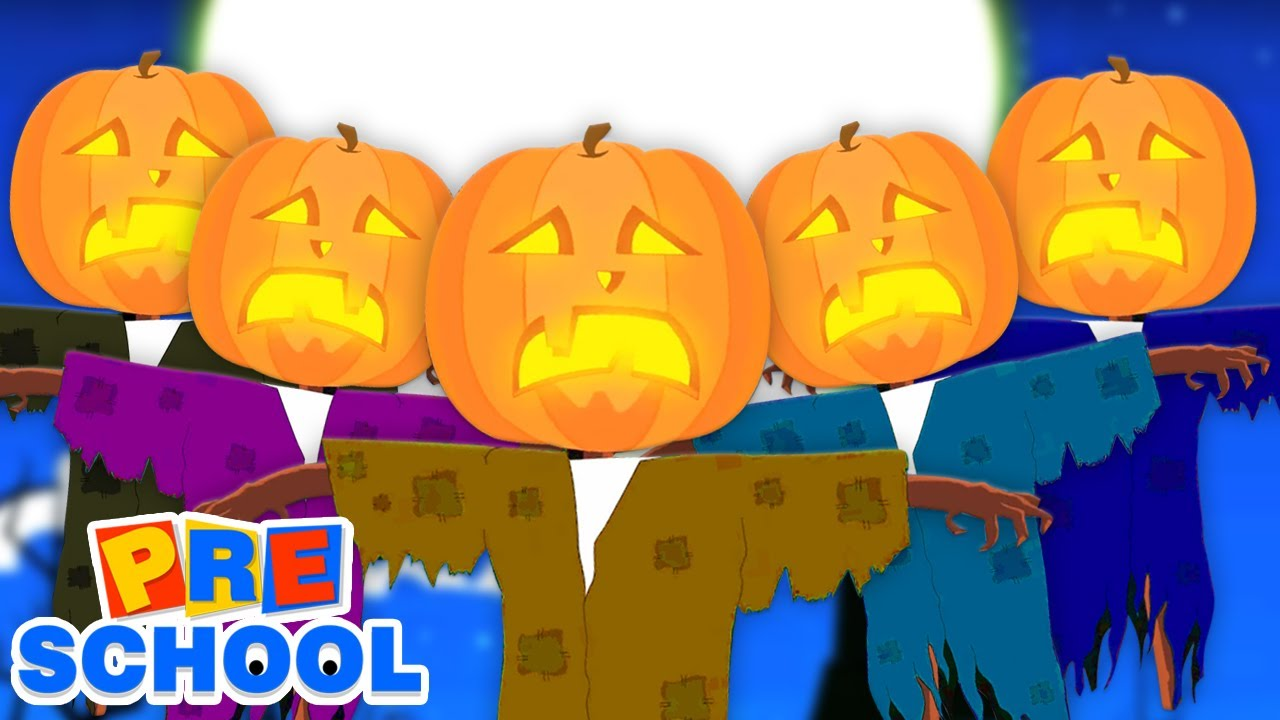 Scary Pumpkin Finger Family | There's A Scary Pumpkin | Halloween Songs For Kids
